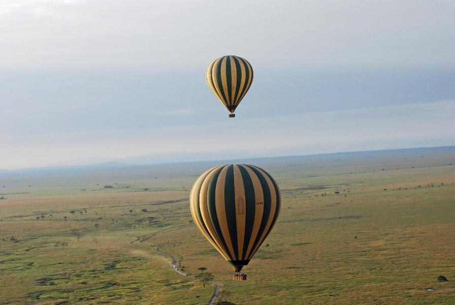 Floating along the Serengeti